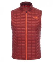 The North Face Men's Thermoball Vest Brickhouse red/ acrylic orange