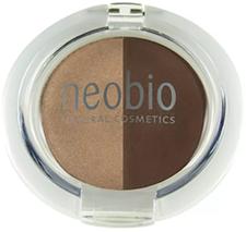 Neobio Eyeshadow Duo - 02 Brown Champagne