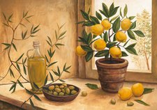 """Home Affaire Kunstdruck  """"A.S.: Olive and lime """" (99x69cm)"""