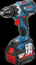 Bosch GSR 18 V-EC Professional Wireless Charging 2 x 4,0 Ah + 31-tlg. Wiha-Werkzeug-Set (0 615 990 H5C)