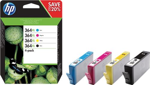 HP Nr. 364XL Multipack 4-farbig (N9J74AE)