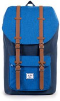 Herschel Little America Backpack navy/cobalt crosshatch/tan synthetic leather