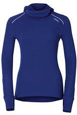 Odlo Shirt l/s with Facemask Warm Women indigo