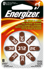 Energizer Hörgeräte-Batterie 312 (8 St.)