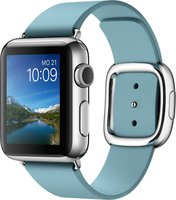 Apple Watch 38mm modernes Lederarmband eisblau