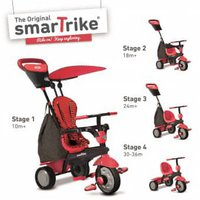 Smart Trike Glow 4 in 1 mit Touch Steering Rot