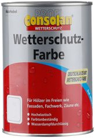 Consolan Profi Wetterschutz-Farbe tiefbraun 0,75 l
