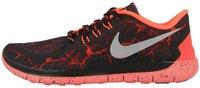 Nike Free 5.0 Lava GS black/metallic silver/total crimson