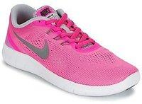 Nike Free RN GS pink blast/metallic silver/white/black