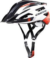 Cratoni AGRAVIC weiß-rot-schwarz