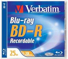 Verbatim BD-R 25GB 135min 2x 1er Jewelcase
