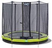Exit Trampolin Twist Ground 366 cm mit Sicherheitsnetz rosa / grau