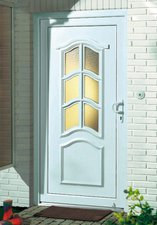 RORO Kunststoff-Haustür Paris weiß rechts 110/210cm (286065E)