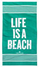 Tom Tailor Strandtuch Life Is A Beach mint (85x160cm)
