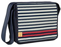 Lässig Casual Messenger Bag Striped Zigzag