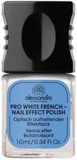 Alessandro Pro White French Nail Effect Polish (10ml)