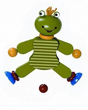 Hess Spielzeug Hampelmann Frosch