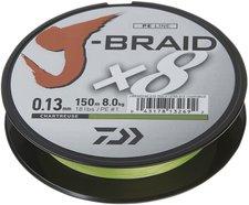 Daiwa J-Braid X8 chartreuse 300m 0,16mm