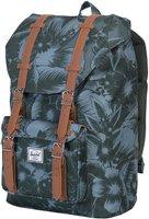 Herschel Little America Mid-Volume Backpack jungle floral green