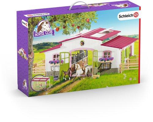 Schleich Reiterhof mit Reiterin und Pferden