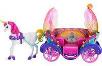Barbie Regenbogen Prinzessin Einhorn und Kutsche