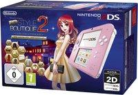 Nintendo 2DS pink white + New Style Boutique 2: Fashion Forward