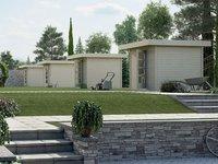 weka Holzbau Designhaus 172 Gr. 2 natur (235 x 300 cm)