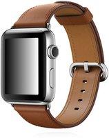 Apple Watch Series 2 Edelstahl silber mit Lederarmband braun