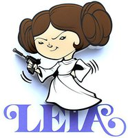 3DLight FX Star Wars Leia LED Wall Light 13 cm