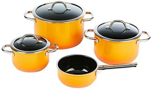 silit passion orange kochgeschirr set 4 teilig g nstig kaufen. Black Bedroom Furniture Sets. Home Design Ideas