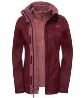 The North Face Damen Evolve II Triclimate Deep Garnet Red