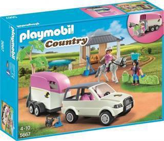 Spielset Pferdetransporter Pferdetransport Pferdeanhänger Turnier Pferde Spielzeugautos