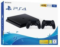Sony PlayStation 4 (PS4) Slim 1TB + 2 Controller