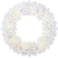 Star Trading LED-Fensterkranz Schneeflocken (270-63)