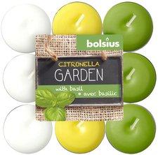 Bolsius Duft-Teelichte Citronella Garden Basilikum farbig sortiert 18-Stk. (103626947117)