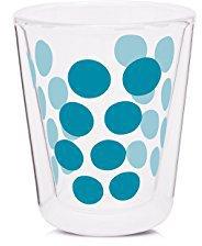 Zak Designs Dot Dot Doppelwand Glas 20 cl aqua blau