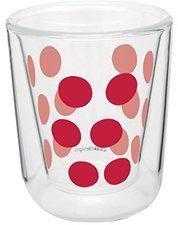 Zak Designs Dot Dot Doppelwand Glas 7,5 cl rot