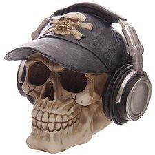 Puckator Spardose Totenkopf Skull mit Kopfhörer und Base Cap