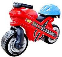 Polesie Motorrad-Rutscher MX mit Helm