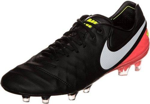 Nike Herren Tiempo Legend VI FG Fußballschuhe, Schwarz (Black/White/Hyper Orange/Volt), 40 EU