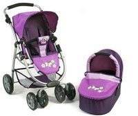 Bayer Chic Puppenwagen Bellina 2in1 purple checker