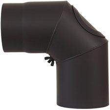 Bertrams Bogen verstellbar mit Reinigungsöffnung  unlackiert 90° Ø 120 mm