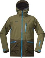 Bergans Myrkdalen Jacket khaki green/army green/light sea blue