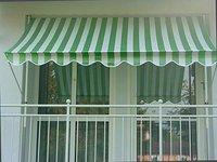 Angerer Klemm-Markise 150 x 150 cm grün-weiß