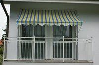 Angerer Klemm-Markise 150 x 150 cm gelb-blau