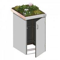 TraumGarten Mülltonnenbox HPL Lichtgrau 1 x 240 Liter Pflanzschale