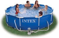 Intex Pools Metal-Frame Pool 457 x 122 cm mit Kartuschenfilter (54946)