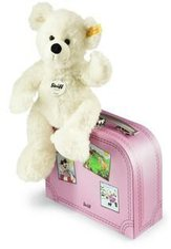 Steiff Lotte Teddybär im Koffer 28 cm (rosa)