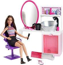 Barbie Glitzer-Salon und brünette (DMM65 )