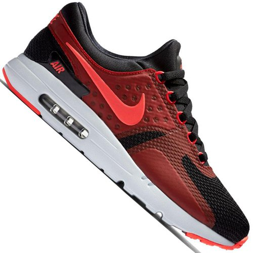 Nike Air Max Zero Essential black bright crimson gym red wolf grey ... b14ebbd7c
